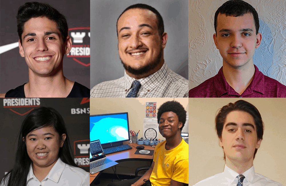 A collage of headshots of CIS students