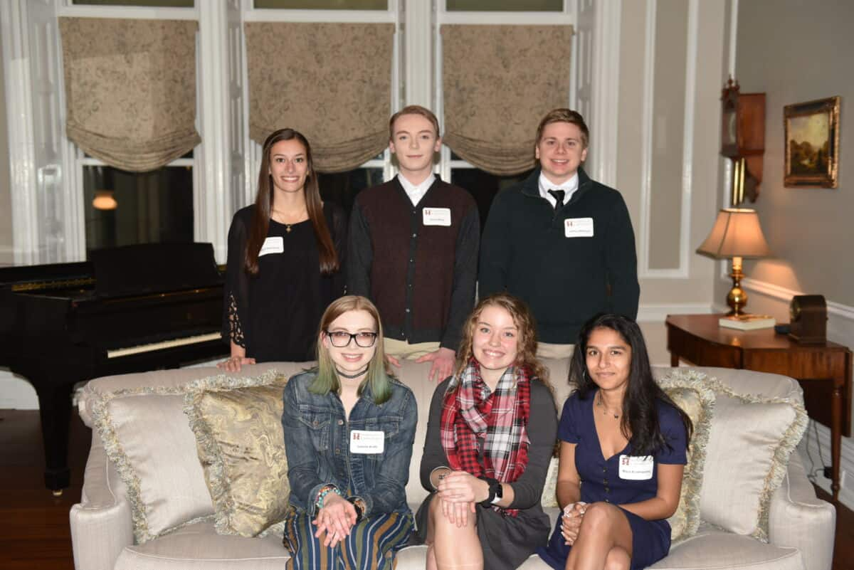 The Rule, Hughes, Murphy awardees for 2020 pose in the President's House.