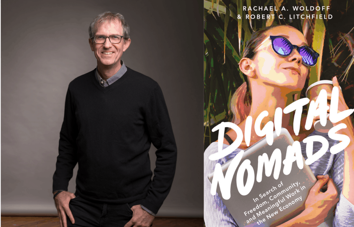 Rob Litchfield, Ph.D., and the cover of Digital Nomads