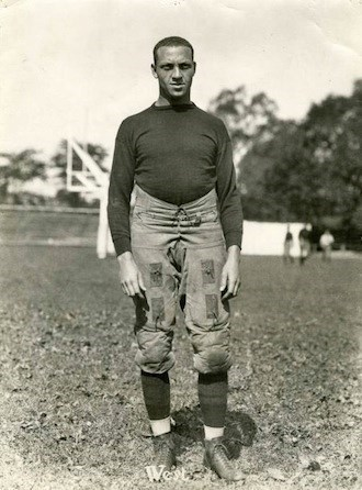 Charles Fremont West, M.D., W&J Class of 1924 in football uniform