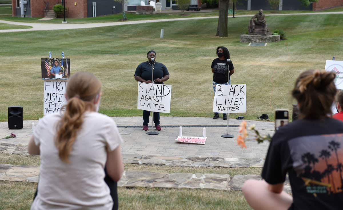 W&J's Black Student Union hosted a Celebration of Black Lives to honor those who lost their lives to racial injustice on September 27, 2020 at the amphitheater outside of the Technology Center on the campus of Washington & Jefferson College.