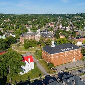 Aerial shot of the campus