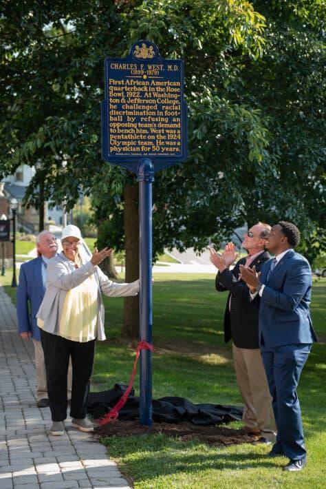 Charles West historical marker