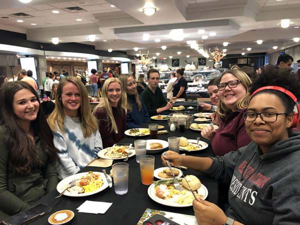 W&J students join together for the annual Commonsgiving dinner held in the W&J Commons.