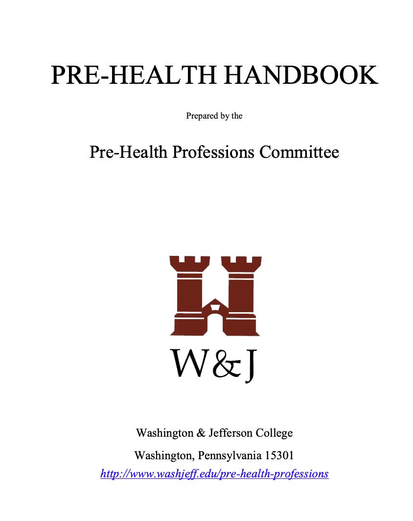 prehealth handbook