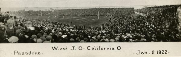 1922 Rose Bowl stadium