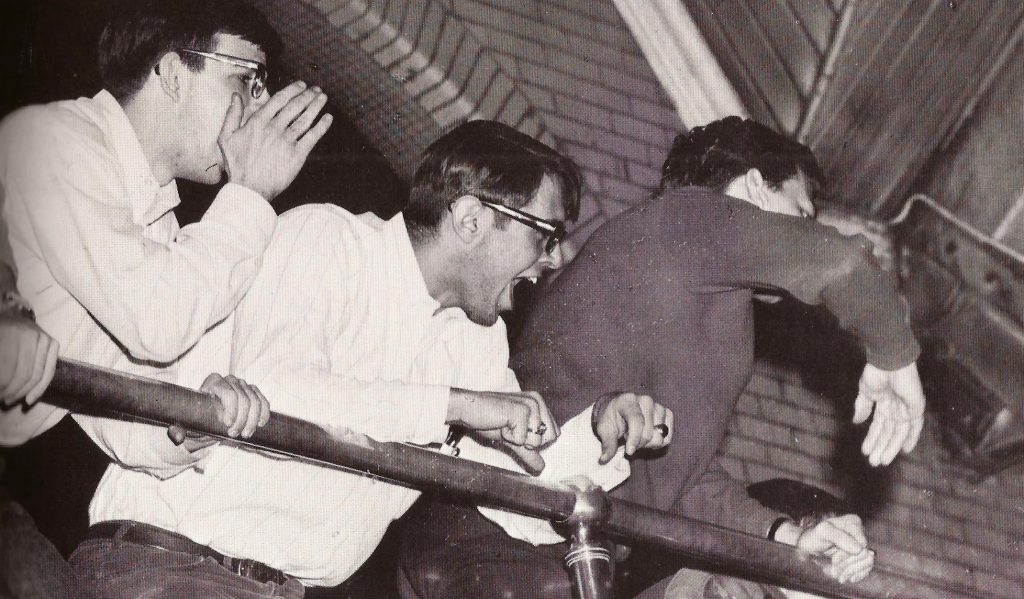 enthusiastic students in 1968