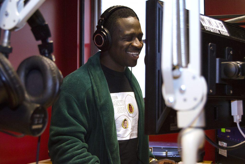 student hosts radio show