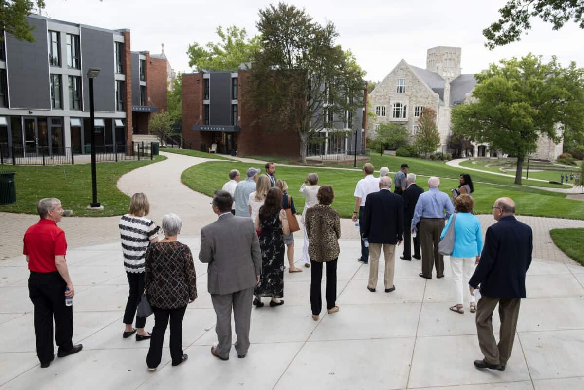 trustees tour campus